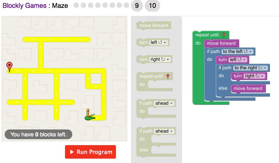Blockly Games : Maze